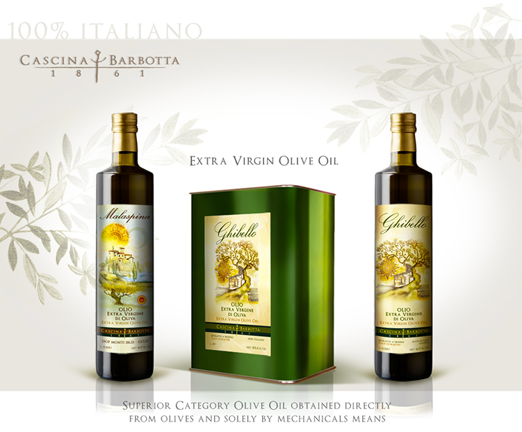 packaging olio di oliva