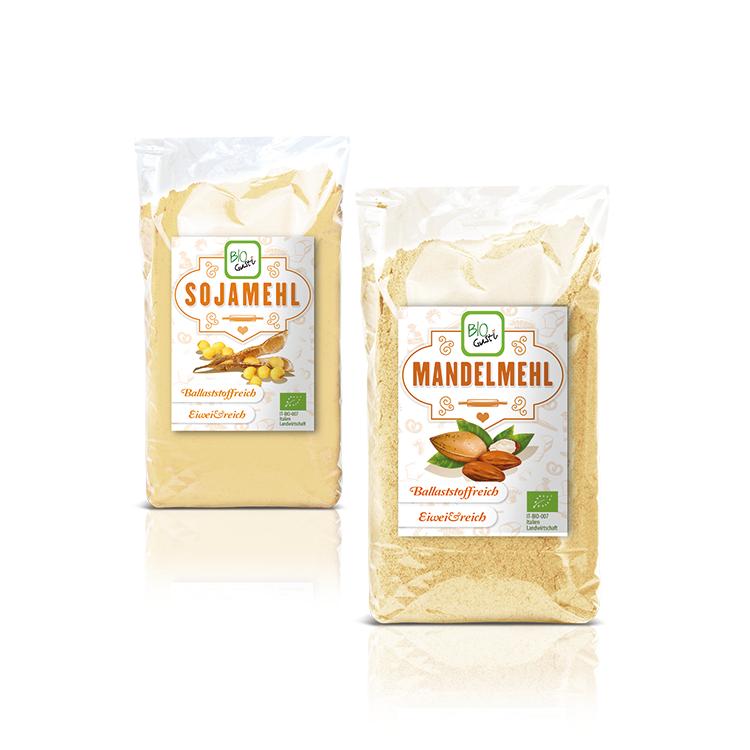 Grafica packaging prodotti bio Probios
