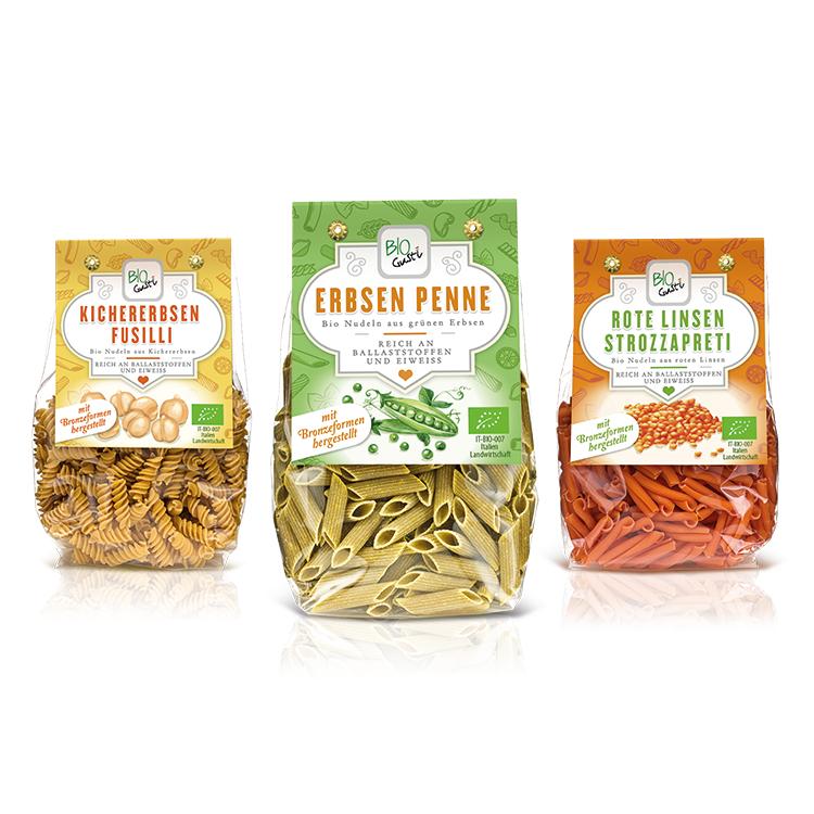 Grafica packaging pasta bio Probios