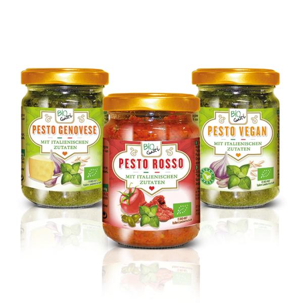 Grafica packaging etichette Pesto Probios