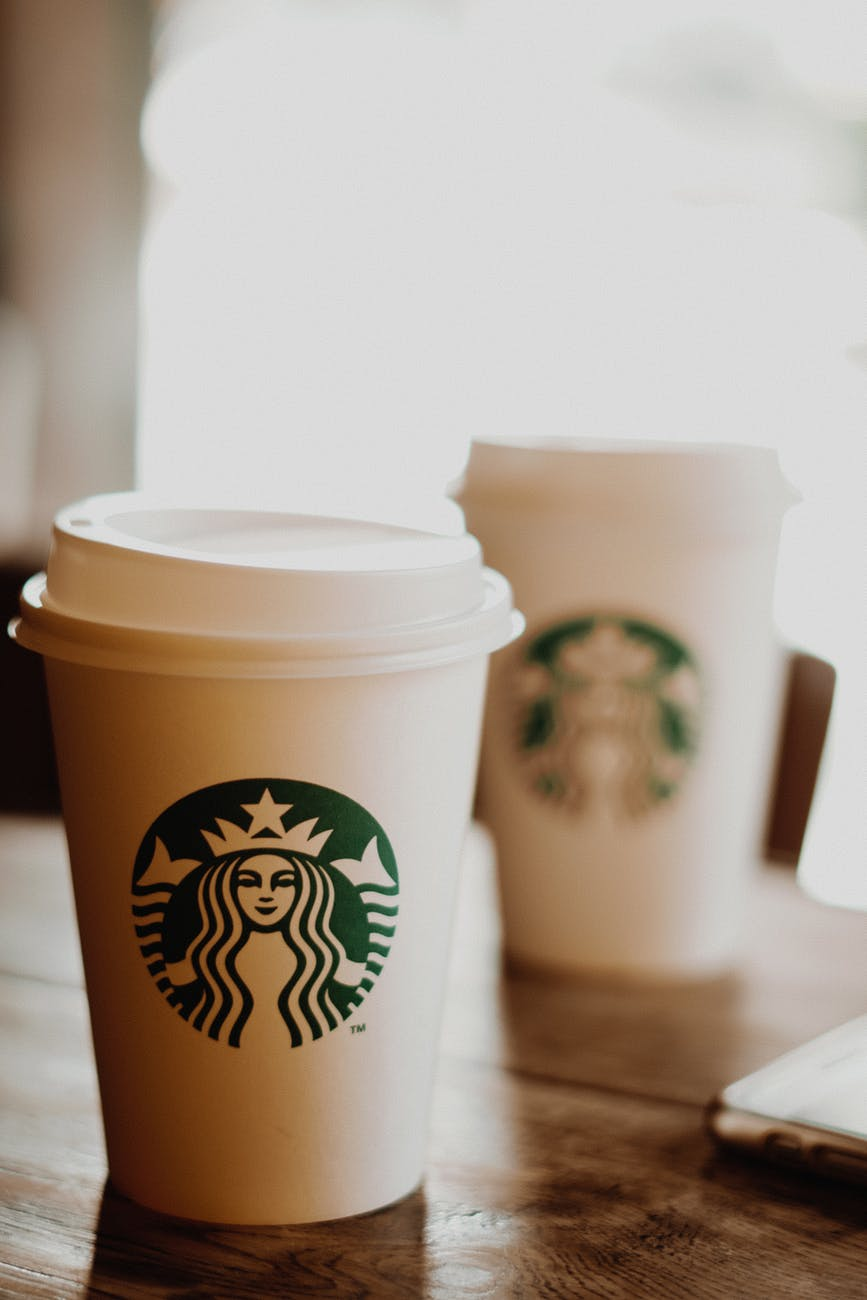 close up photo of starbucks paper cup
